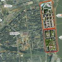 Схема расположения 7-го и 8-го микрорайонов жилого района «Восточный» в Устиновском районе г. Ижевск