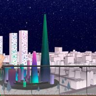 Концепция реновации квартала 20-21 района «Черёмушки». 3-е место. Сорокина Е.Л., Захватова Д.В. 2018 г.